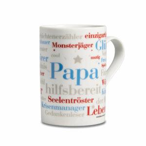 Kaffeebecher Papa Wörter Henkel rechts