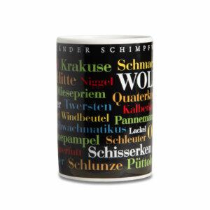 Kaffeebecher - Tasse Sauerländer Schimpfwörter - frontal