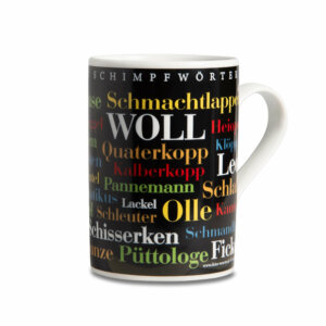 Kaffeebecher - Tasse Sauerländer Schimpfwörter - Henkel rechts
