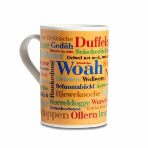 Kaffeebecher Tasse Siegerländer Wörter Henkel links