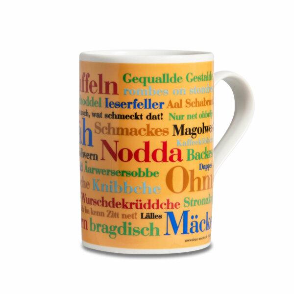 Kaffeebecher Tasse Siegerländer Wörter Henkel rechts