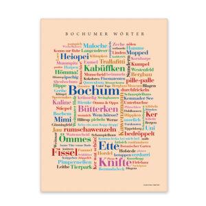 Leinwand Bochum Wörter Keilrahmen Fontansicht