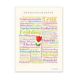 Leinwand Frühling Wörter Frontansicht