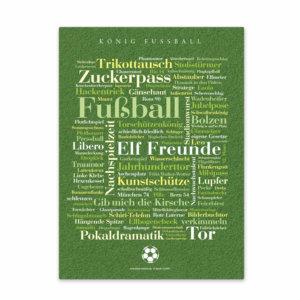 Leinwand Fußball Wörter Vorderansicht