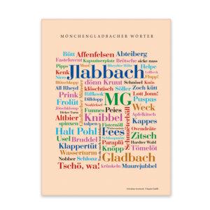 Leinwand Moenchengladbach Wörter mit Keilrahmen Frontansicht