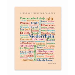 Leinwand Niederrhein Wörter mit Keilrahmen Frontansicht