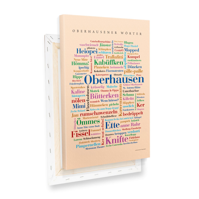 Leinwand Oberhausen Wörter mit Keilrahmen Profilansicht