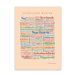 Leinwand Sächsische Wörter Frontansicht