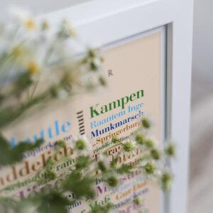 Das schöne Poster mit den Sylter Alltagswörtern.