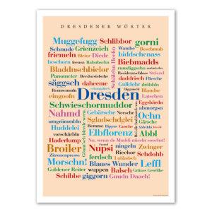 Das Poster mit den Dresdener Wörtern.