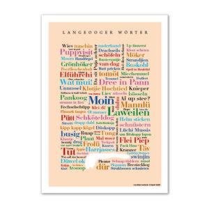Eine erlesene Sammlung der typischen Insel-Wörter.