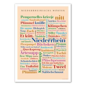 Das Poster Niederrheinische Wörter.