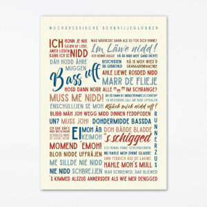 Poster Nochdhessische Schbrijjeglobber 50x70 cm