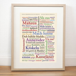 Das Poster mit Nordhessischen Wörtern.