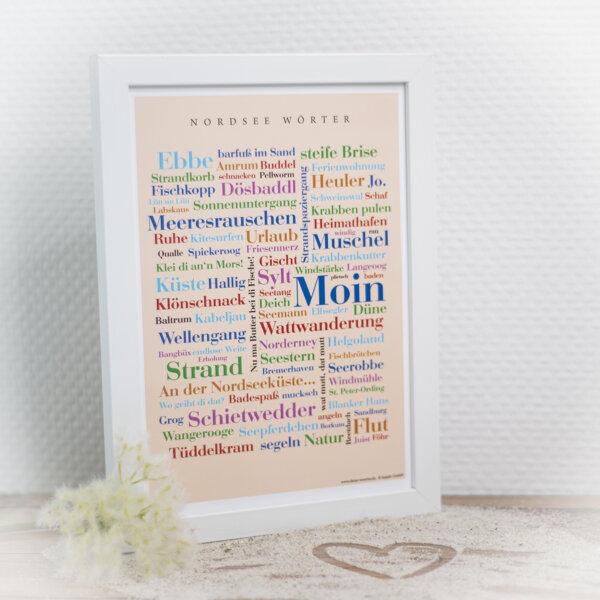 Das Poster mit den schönsten Wörtern der Nordsee.