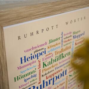 Das Poster mit den Ruhrpott Wörtern im Detail.