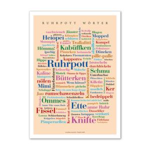 Poster mit den Wörtern aus dem Ruhrgebiet.