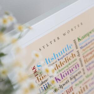 Das Plakat mit Sylter Begriffen.
