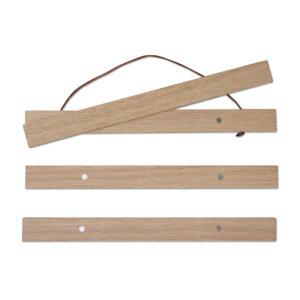 Stylische Posterleisten aus Eichenholz zum dekorieren und verschenken.