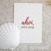 Postkarte (DIN A6) mit Motiv Ahoi mien jung für liebevolle Grüße.