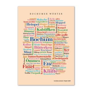 Bochumer Wörter zum Verschicken.