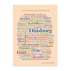 Postkarte Duisburger Wörter (DIN A6)
