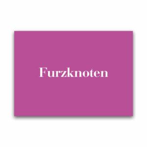 Postkarte Furzknoten in pink für liebe Grüße.