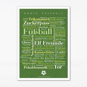 Postkarte Fußball Wörter (A6)