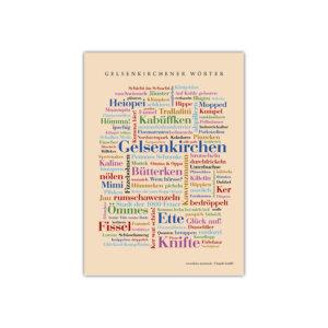 Zeig jedem mit der Gelsenkirchener Wörter Postkarte für welche Stadt dein Herz schlägt.