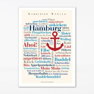 Postkarte Hamburger Wörter (A6)