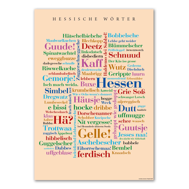 Die Postkarte mit Grüßen aus Hessen.
