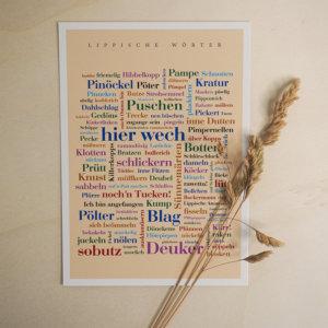 Postkarte Lippisch Dialekt.