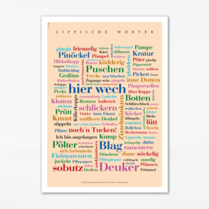 Postkarte Lippische Wörter