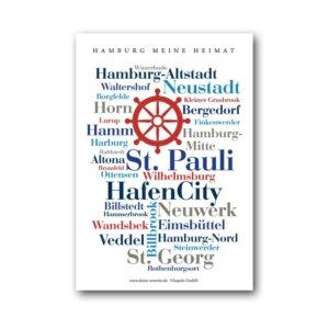 Postkarte Meine Heimat Hansestadt Hamburg.