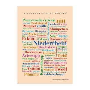 Postkarte Niederrheinische Wörter (DIN A6)