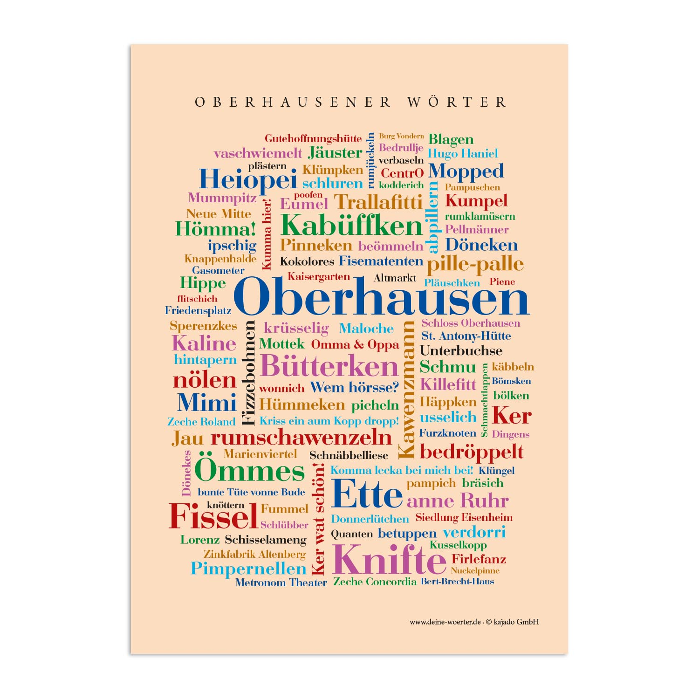 Postkarte Oberhausener Wörter (DIN A6)