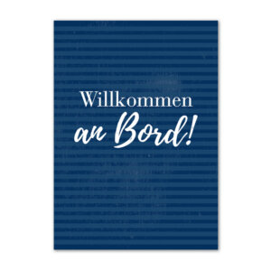 Postkarte (DIN A6) mit Motiv Willkommen an Bord.