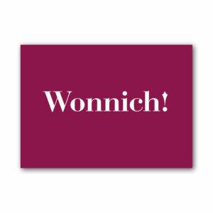 Die Postkarte Wonnich! für liebe Grüße.