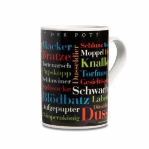 Die Tasse mit den schönen Ruhrpott Schimpfwörtern.